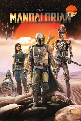 "The Mandalorian Poster 32x48"" 24x36"" TV Series Star Wars 2019 Print Silk"