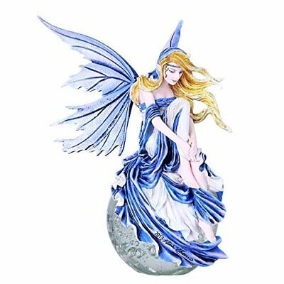 Pacific Giftware Blue Dream Fairy on Crystal Ball Hand Painted Resin Figurine