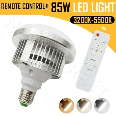 E27 85W Dimmable LED Lamp Light Bulb for Photography Lighting w/ Remote Control