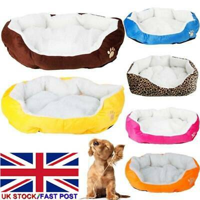 Dog Pet Winter Warm Soft Cat Dog Bed Puppy Mat House Washable Kennel Pet Cushion