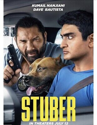 STUBER MOVIE POSTER 2 Sided ORIGINAL Advance 27x40 DAVE BAUTISTA KUMAIL NANJIANI