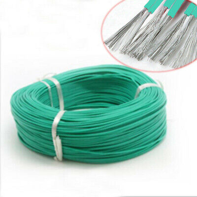 Green 16/18/20/22/24/26/28/30 AWG UL3239 Silicone Stranded Cable Wire 3KV 200°C