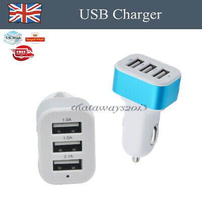 1X USB 3 in 1 Triple 5W Car Charger Socket Lighter Fit for Iphone Ipad Samsung a
