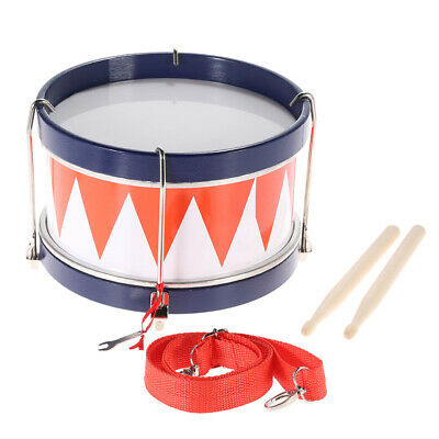 Colorful Toddler Drum Musical Toy Percussion Instrument with Sticks Strap L1M8
