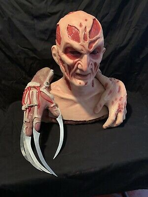 3 Pc New Nightmare Freddy Silicone Krueger Mask And Gloves By WFX Masks