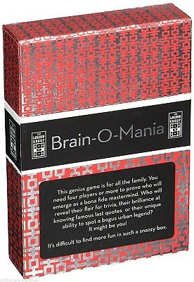 Brain-O-Mania Brand New   Question And Answers Card Game Toys Family Fun Present