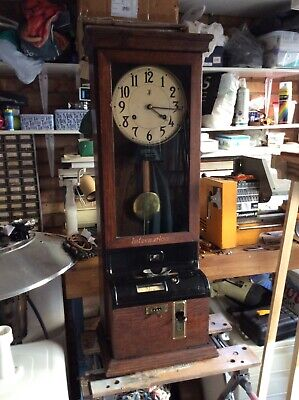 National Time Recorder clocking in clock