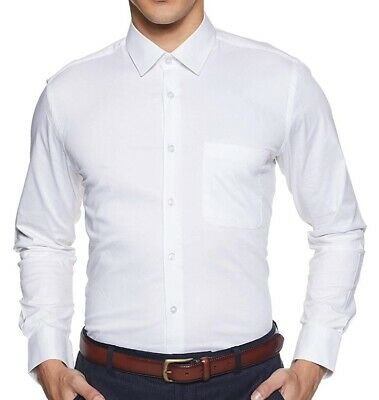 Men's Luxury Formal Casual Slim Fit Shirt Long Sleeve Tops Shirts White Business