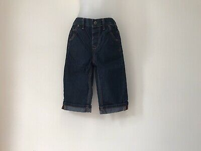 Ted Baker Designer Baby Boys Dark Blue Jeans Stretchy Waistband 12-18 Months