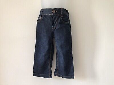 Ted Baker Baby Boys Dark Blue Jeans Adjustable Stretchy Waist 12-18 Months