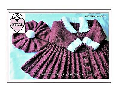 "#15 /""Pleats Galore/"" EASY Knitting Knitting Pattern For Baby 0-3 months"