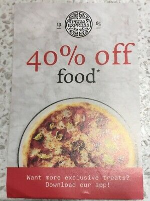 Pizza express 40% off food vouchers any day but Saturday till 8/12/2019