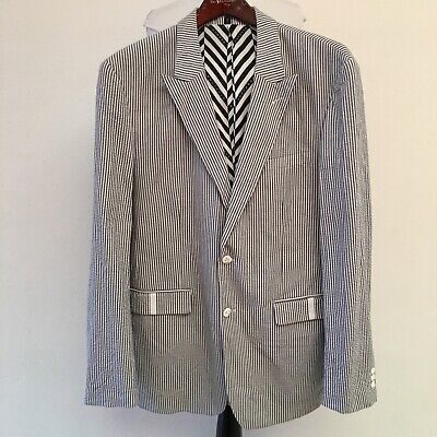 Sean John Mens Seersucker Two Button Blazer Jacket Sports Coat Size XXL