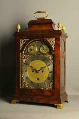 MAHOGANY FUSEE VERGE BRACKET CLOCK  -James Eley , London