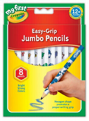 Crayola My First Jumbo Easy Grip Colouring Pencils, Pack of 8 Multicolour