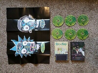 Rick and Morty DVD seasons 1 , 2 , & 3 disc set. FREE POSTER INCLUDED