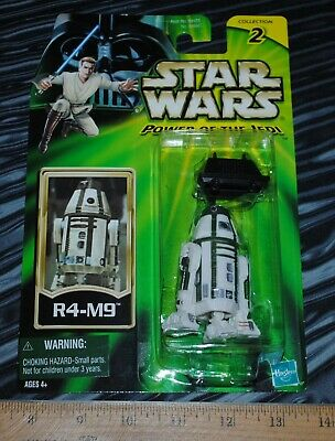 Star Wars Power of the Jedi R4-M9 astromech droid green card sealed action figur
