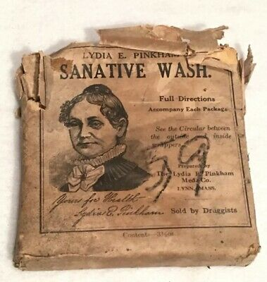 Antique Lydia E. Pinkham Sanative Wash Lynn Mass. Extremely Rare Vaginal Douches