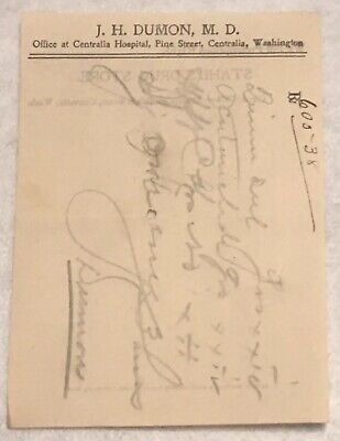 RARE OBSOLETE PAPER PRESCRIPTION RX Druggist PHARMACY MEDICINE APOTHECARY #8