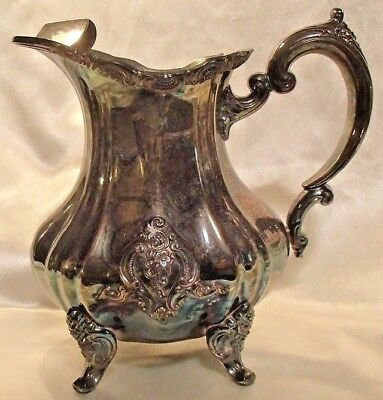 Antique TOWLE Silver Co. EL GRANDEE Pattern Footed 64-oz Water Pitcher 8-3/4""