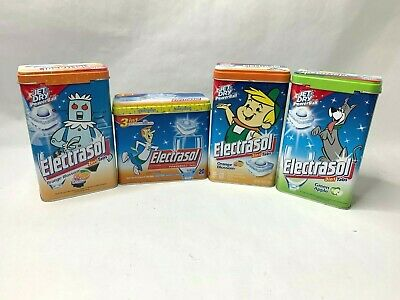 Jetsons Electrasol 4 Tin Lot empty Limited Edition Rosie Elroy George Astro