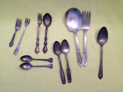 Odd Lot (11) Vintage, Silver Plated Flatware,Rogers Bros. National,Oneida & More