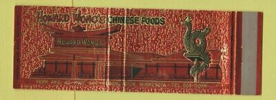 Matchbook Cover - Howard Wong's Chinese Restaurant Bloomington MN Full Length