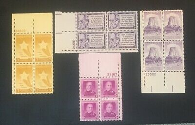 4 Different MNH .03 plate Blocks...as Pictured... Lot 16