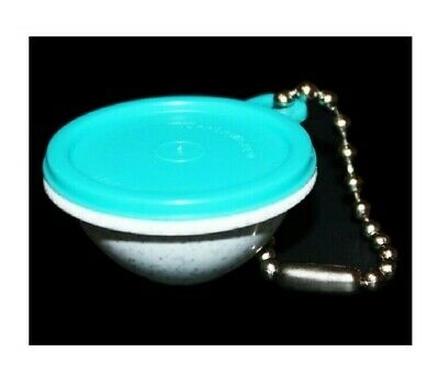 Tupperware Keychain Wonderlier Bowl Vintage Speckled Fireworks and Teal Blue