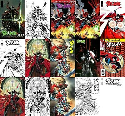SPAWN #300 - 15 Cover Set - All Main Covers - Todd Mcfarlane