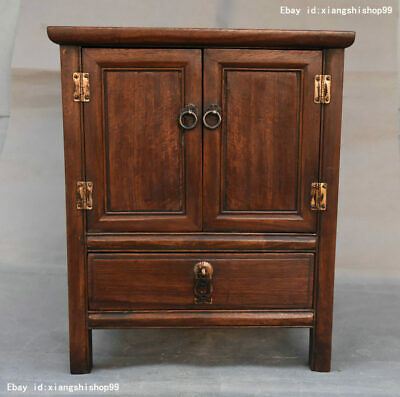 Old China Huanghuali wood Carving Classical furniture Lockers Storage Cabinet