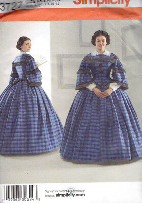 Civil War Era Costume Misses size 8-14 Simplicity 3727 Sewing Pattern