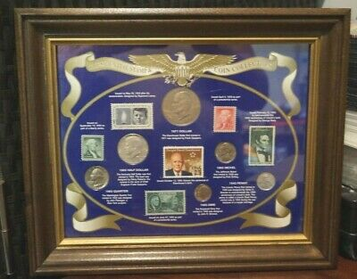 Gift NUMISTA Presidential Stamp & Coin Collection (188M)