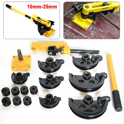 3/8''-1''(10-25mm) Pipe Tube Bender Metal Bending Tool Steel Pipe Manual W/ Dies