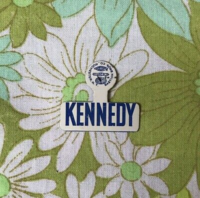 1960s Kennedy Election Tab vintage ORIGINAL retro RFK JFK badge Button