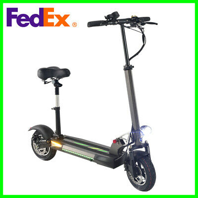 Electric Scooter 500W Motor Adult With Seat Folding 48V Battery 45km/h 28 Mph