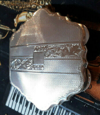 Vintage 1920's Solid Silver Oyster Shell Continental Ladies Compact