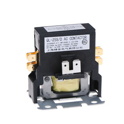 Contactor single one 1.5 Pole 25 Amps 24 Volts A/C air conditioneYNUK