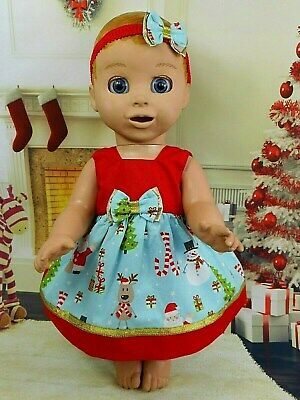 Dolls Clothes For LUVABELLA DOLL~CHRISTMAS~SANTA~REINDEER DRESS~UNDIES~HAIR BOW