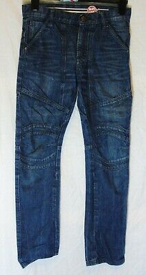 Boys Debenhams Blue Whiskered Denim Adjustable Waist Panelled Jeans Age 12 Years