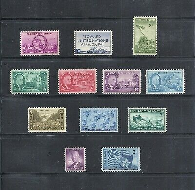 1945 - Commemorative Year Set - US Mint Stamps