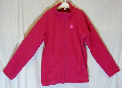 Girls Pink Zipped Funnel Neck Warm Winter Fleece Jacket Age 7-8 Years