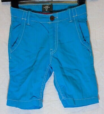 Boys H&M Sky Blue Chino Cotton Adjustable Waist Long Board Shorts Age 3-4 Years