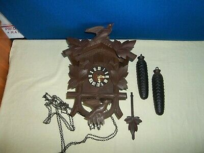 Vintage Black Forest Welby 8 Day CUCKOO CLOCK West Germany Complete & Untested