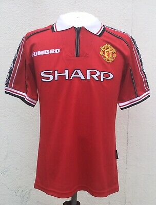 Manchester United Retro Shirt 1998/99 Treble Season Medium Vgc