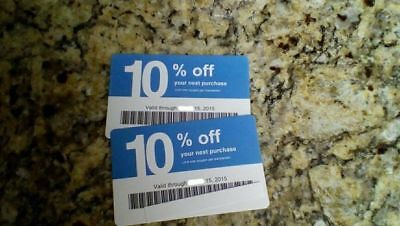 Twenty (20) LOWES Coupons 10% OFF - Competitors ONLY not Lowes Exp JULY 2020