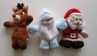 Lot of 3 Starbucks Coffee Christmas Finger Puppets