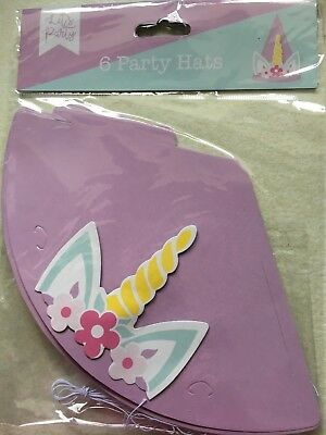 Childrens Party Unicorn  Hats Pack Of 6