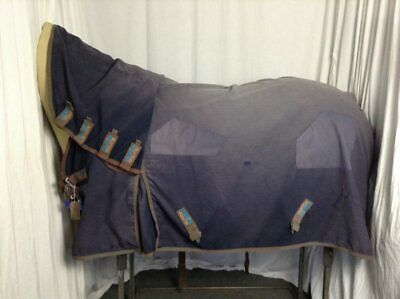 Used 6'0 Premier Equine Multi Buster/Sweet Itch Horse Rug W/ Fixed Hood #B00957