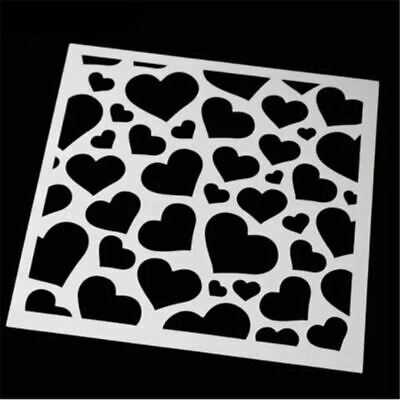 1 Pc Plastic Heart shaped Craft Layering Stencils For Walls Painting Scrapbookin